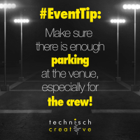 Event Tip: Parking