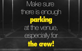 Event Tip: Parking