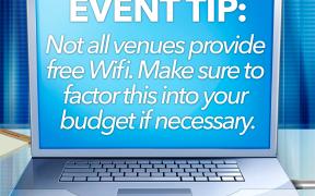 Event Tip: Wi-Fi